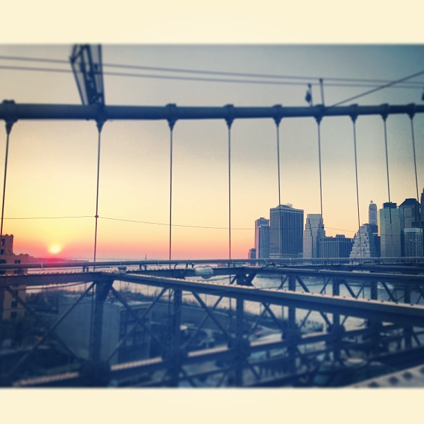 an image taken from the Brooklyn Bridge during my last trip to the city (taken with instagram)