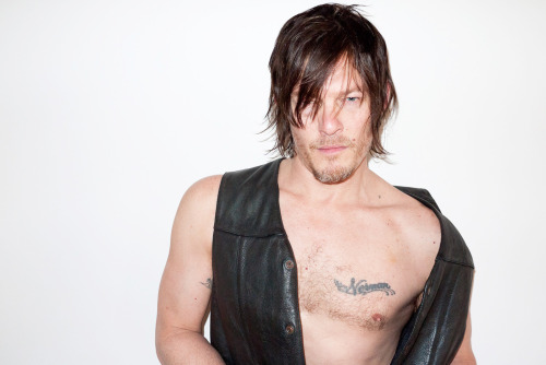 terrysdiary:  Norman Reedus at my studio #9