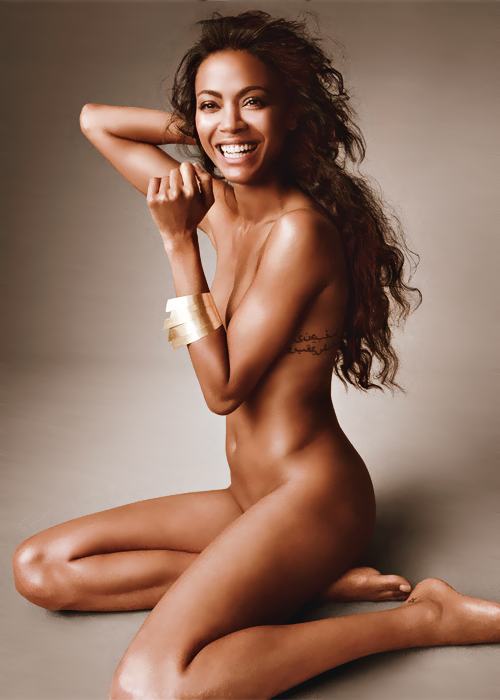 gabbyroars:  surface2airr:   zoe saldana | allure magazine  No wayy  omggg shes just the cutest little thing naked