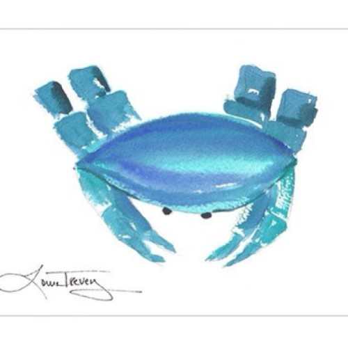 #nautical #crab #art #print on sale now @jossandmain #curatorscollection #jossfind