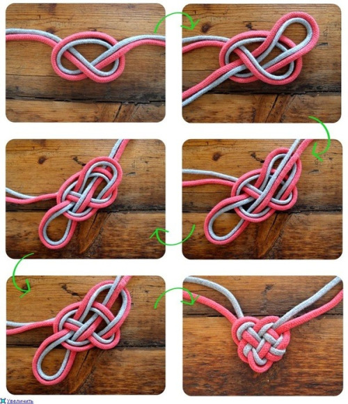 diy-fashionista:  Celtic Heart Knot bracelet