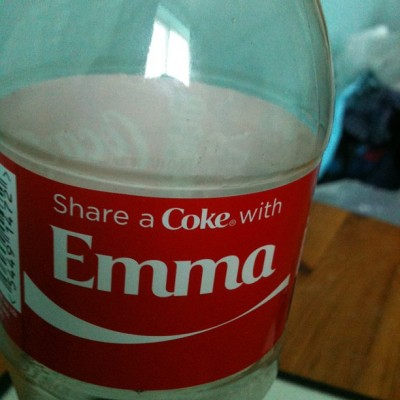 Couldn't resist 😉 #coke #cola #cocacola #name #share #emma #funny #emmabonkers  (at Greenhill)