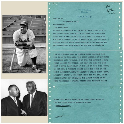 I made this silly collage after reading about Jackie Robinson's telegrams on the intertrons today. The end.
