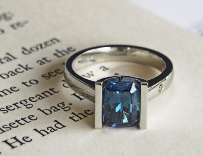 custom sapphire ring by J ALBRECHT DESIGNS
