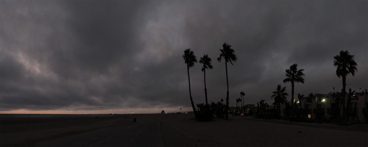 beach after sunset, marina del rey, sep 2012