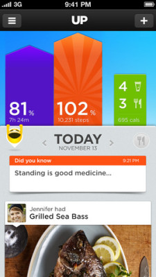 feed on UP by Jawbone