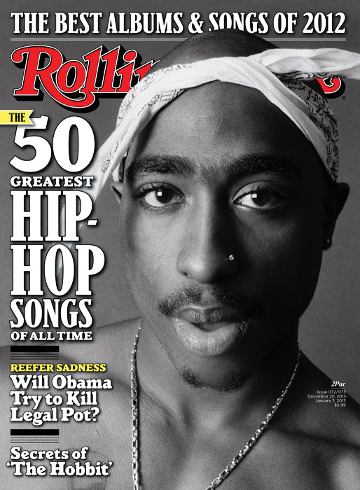 rollingstone:  We asked 33 experts and artists - from Nas to Mike D - to vote on their favorite rap tracks and we share the results in the new issue of Rolling Stone, on stands now. The new issue comes in four covers, each with a different hip-hop icon, and we'll be sharing all the covers here. The second is 2Pac - keep an eye out for the other two.