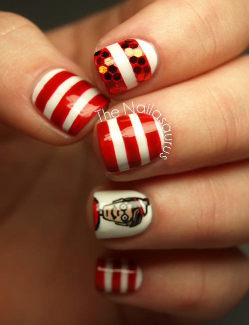 thenailasaurus:  Where's Wally/Waldo Nail Art