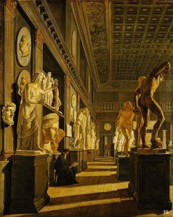 hadrian6:  The antique room at the Academy of Fine Arts. Copenhagen. 1824.               Ditlev Martens. Danish. 1795-1864. oil on canvas. http://hadrian6.tumblr.com