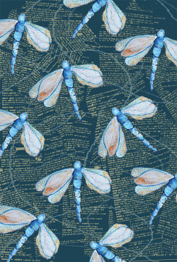 dragonflys in blue by artistically afflicted on Flickr.