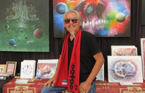 Rex Begaye: A Navajo Artist Bringing Indian Country to Sarasota Julia Jennings Diné artist Rex Begaye has a vision. It speaks of the universal connection of Mother Earth, Father Sky and man. Images are inspired from stories passed down for generations by Indian elders all across Turtle Island, and brought to life in acrylic, oils and ink.