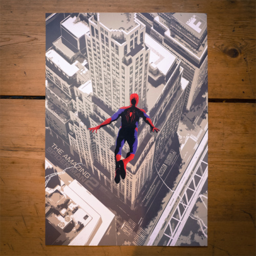 A nice surprise in the mail this morning, my posters for the first IMAX screenings of The Amazing Spider-Man 2 that I worked on with Mondo. They're really nice litho prints with a spot varnish on Spidey (see picture above), and have a nice weight to them, so kudos to the women and men at IMAX who made them happen. These have been and gone in the UK as far as I know, but you can still get your hands on one of these by attending one of these screeningswhen the movie is released later in the week.