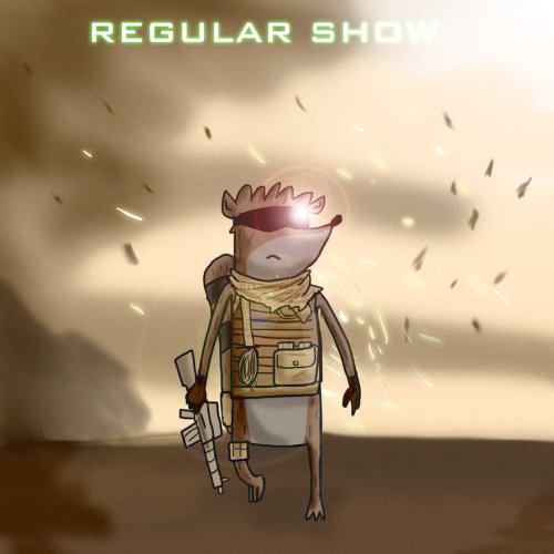 albotas:  Regular Show X Call Of Duty One of the greatest cartoons of all time meets one of the best selling gaming franchises ever in these clever illustrations by Matthew Byles. Check it: Regular Show X Sonic The Hedgehog 2Buy: All kinds of cool Regular Show stuff