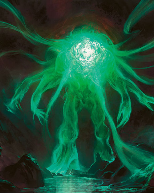 """Omnath, Locus of Mana"" by Mike Bierek ""It gathers against the coming storm."""