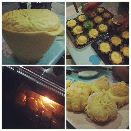 Made #Ensaymada with Tita Elma😉😊👍 #baking #bread #sarap