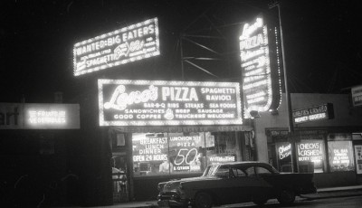 Leno's Pizza, 47th at Wood, 1958, Chicago.
