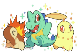 pc4sh:  It was fun to draw some shiny Pokémons! I hope I find one of these soon!  [ Chibi Paint (Pokégraph Oekaki), 2h56min. ] You can see the sketch here.