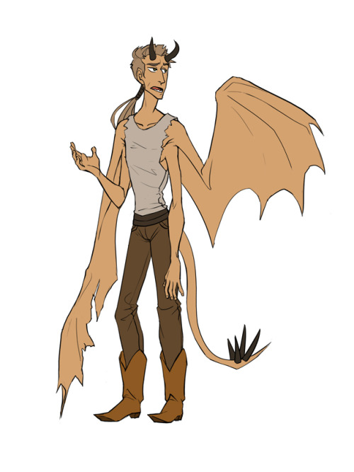 Hhhh I made a character with wings, now let's see if I'll ever draw him again.