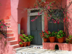 Pink House - Halki, Naxos Island, Cyclades, Greece | by Marite2007