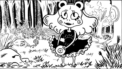tazzes:  i think this is my favorite panel in the monster mash comic i did she's just so cute  omg so kyuuuut C: