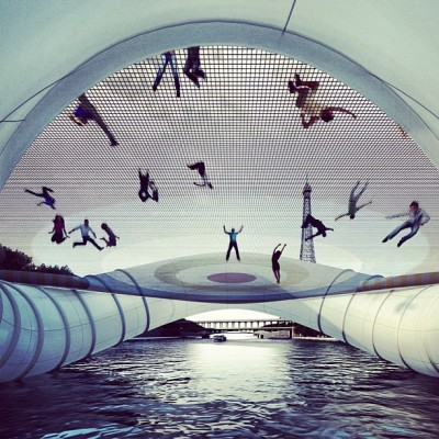 #Trampoline #Bridge  #Paris / #France / 2012 Atelier Zündel Cristea