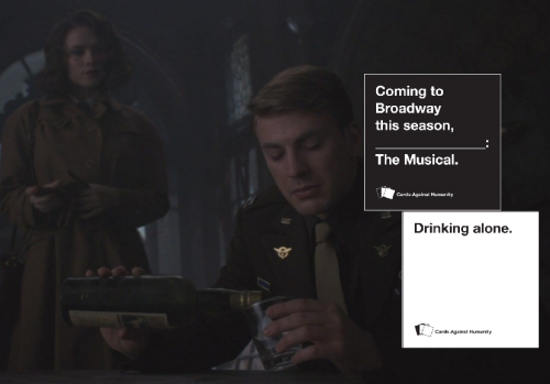 steve rogers + cards against humanity (insp.)