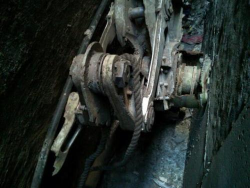 brooklynmutt:  A part of a landing gear, apparently from a plane destroyed on 9/11, found today in lower Manhattan (via @NYTnickc - DCPI)
