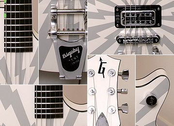 proguitarshop:  Oh my hell. Whatever this is I need it in my life, no in my HANDS RIGHT NOW. baseballbatz:  Sneak peek - Hand built Gretsch 'Jet Fighter'…   😳😳😳