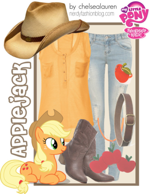 Applejack | My Little Pony - Friendship is Magic by chelsealauren10   Brown cowboy boots / My Little Pony  jewelry