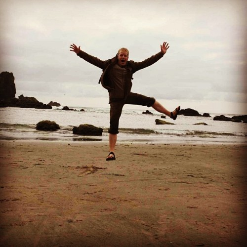 I can fly! (at Cannon Beach RV Resort)