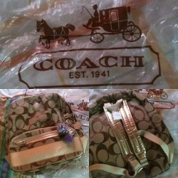 Perks of being a good daughter 😍 Coach backpack from Tito Ernie! Best dad #2 evahhh!! I'm not into bags but OMG!! ❤❤❤