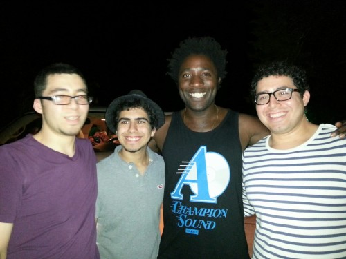 the brothers w/ kele to find bloc party!