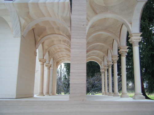 each capital carved by hand