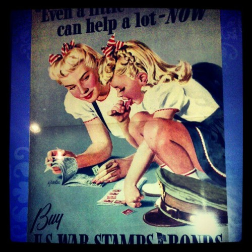 Look what I bought!! #wwii #ww2 #vintage #retro #antique #propaganda #war #art #poster (at Bedford street antiques)