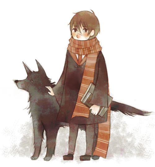 everythings-wolfstar:  Moony and Padfoot by ~ruuari