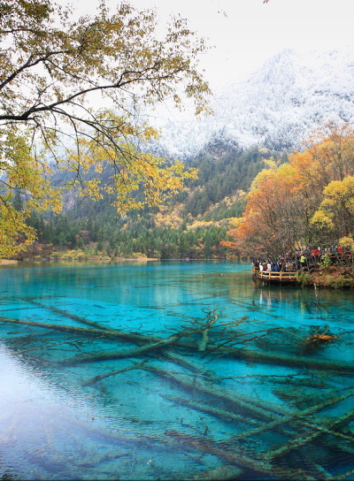 visitheworld:  The beautiful lakes of Jiuzhaigou Valley in Sichuan, China (by Bryan Hsieh).