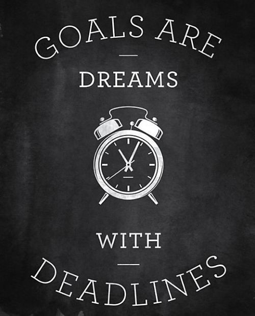 whatmotivation:  Goals are dreams with deadlines. (via http://loljam.com/post/6156/95844/)