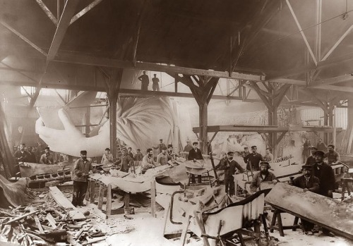 The Statue of Liberty in the making, 1884.