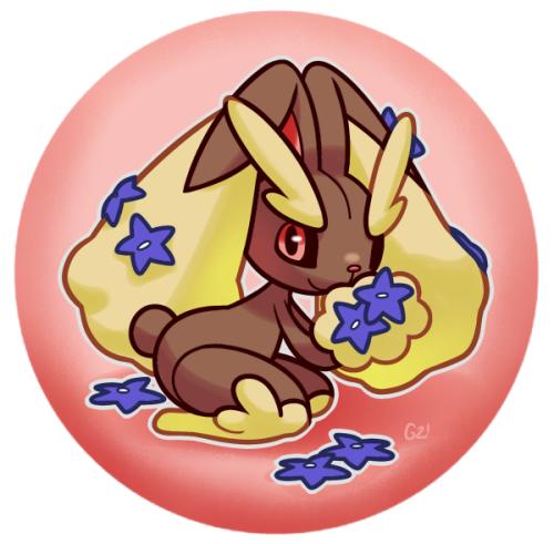 pokemon pokémon mega banette lockpin banette pinkgermy badge lopunny