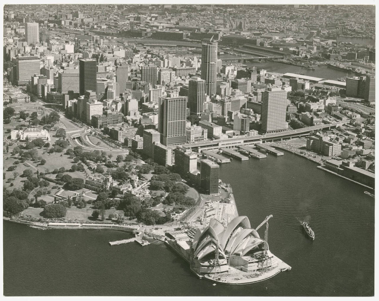 The Opera House under construction, Sydney