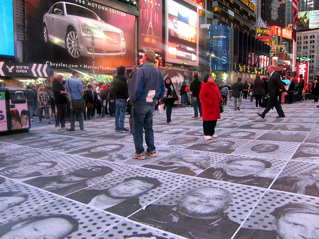 "Paste Your Face on Times Square with JR  JR's ""Inside Out New York City"" in Times Square (all photographs by the author for Hyperallergic) I…  View Post"