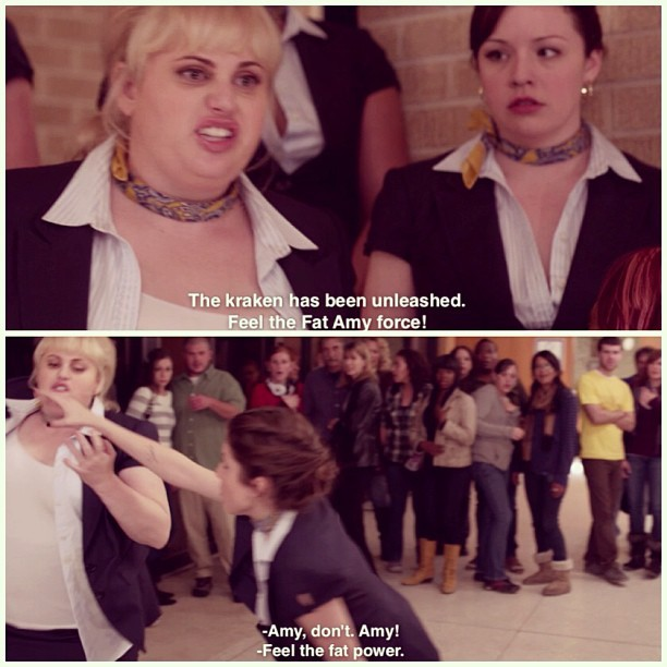 lindsaay:  I need a sharp object!! #fatamy #rebelwilson #pitchperfect #pitch #perfect #bestmovieever #bardenbellas #thebellas #treblemakers #love #happy #follow #follows #follower #followers #followme #instagramers #igdaily #photooftheday #igdaily #dailyig #instagood #instafamous #instalike #instagramhub #instagood #iphonesia #instamood #webstagram #picstitch
