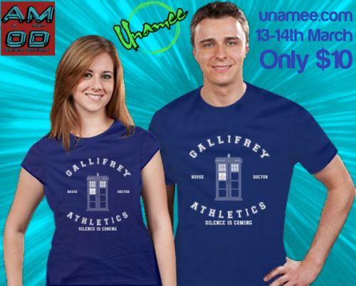 Athletics style Doctor Who & Game Of Thrones mash-up T-shirt design available HERE on 13th-14th March for an amazing $10 only!!