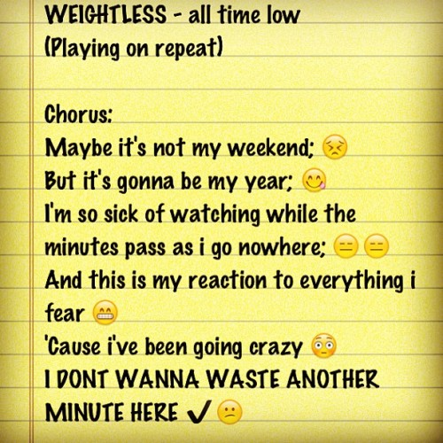 #weightless #alltimelow #reality #truth this is what exactly i'm feeling right now.. ✔😫