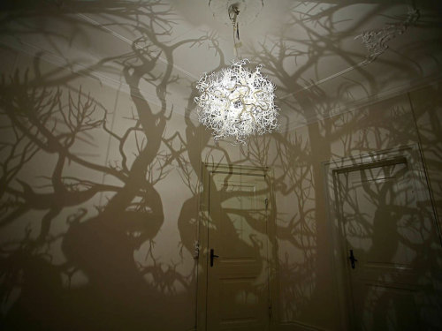 """Forms In Nature"" chandelier by Thyra Hilden and Pio Diaz known as HildenDiaz"
