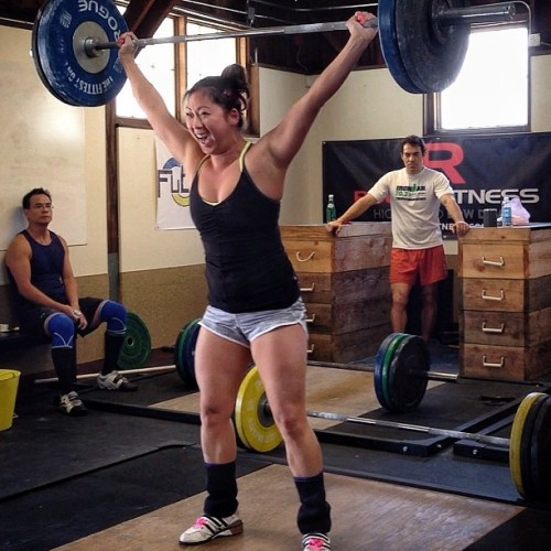 fubarbell:  Christine Carosi (@christinecarosi) snatch PR at 67kg/148lbs. The celebratory victory dance after the bar was dropped was the best.  #FuBarbell #weightlifting #crossfit #crossfitgirls #Oly #Olympic #Olympicweightlifting #usaw #snatch #clean #cleanandjerk #technique #inspiration #motivation #instagramfitness #fitspo