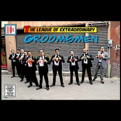 The League of Extraordinary Groomsmen! #superheroes #wedding #geek #comic #dc #marvel #awesome