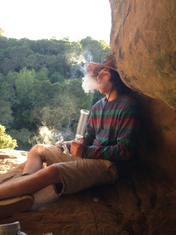 surfinonthdaily:  Smoking out of bongs in caves