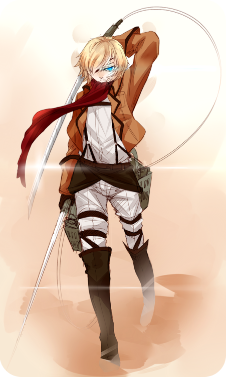 Snk AU by *shihoran awwww yeah bandwagon n stuff! I don't watch the series but the uniform was fun…