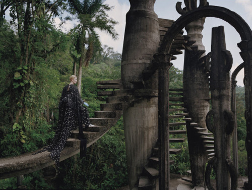 c86:  Tilda Swinton at the Las Pozas estate, Mexico Photography by Tim Walker for W magazine, May 2013